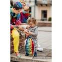 Sac à lanières Lennylamb - Symphony rainbow dark - 100% coton - 35cm x 45cm