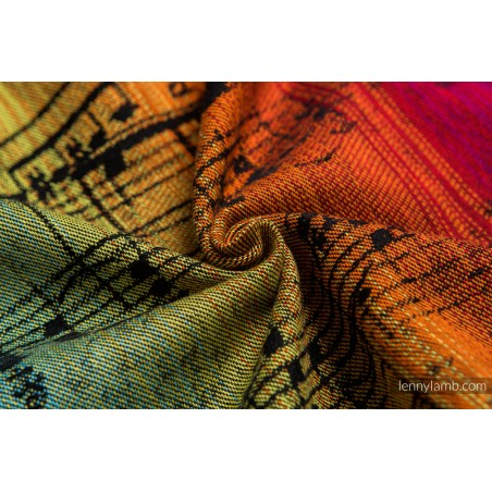 Echarpe Porte poupon - Symphony Rainbow Dark - Lennylamb