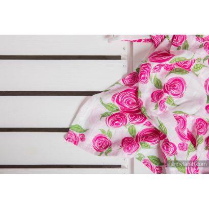 Carré de mousseline bébé - Rose Blossom - Lennylamb - 5