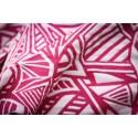 Echarpe Yaro - Urban Geo Contra Red-Violet White Repreve - 75% coton/25% repreve