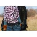 Echarpe Yaro - Magnetic Contra Indigo White Wool Tussah - 45% coton/45% laine/10% soie tussah