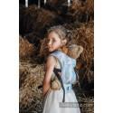 Porte poupon - Painted Feathers White & Turquoise - Lennylamb