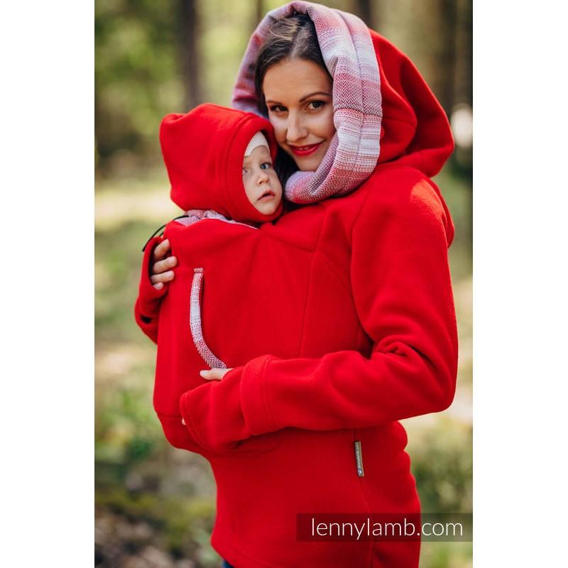 Sweat-shirt de portage - Lennylamb - Red with Little Herringbone Elegance 2.0