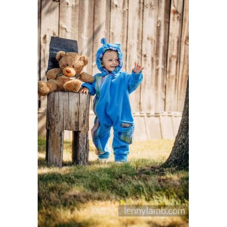 Combinaison bébé polaire - Turquoise with Little Herringbone Petrea - Lennylamb