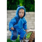 Combinaison bébé polaire - Turquoise with Little Herringbone Illusion - Lennylamb