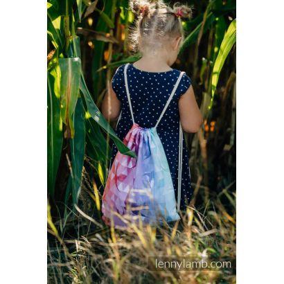 Sac à lanières Lennylamb - Swallows Rainbow Light - 100% coton - 35cm x 45cm