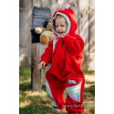 Combinaison bébé polaire - Red with Little Herringbone Imagination - Lennylamb