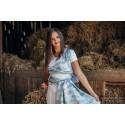 Echarpe Lennylamb - Painted Feathers White & Turquoise - Coton