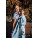 Sling Lennylamb - Painted Feathers White & Turquoise - 100% coton
