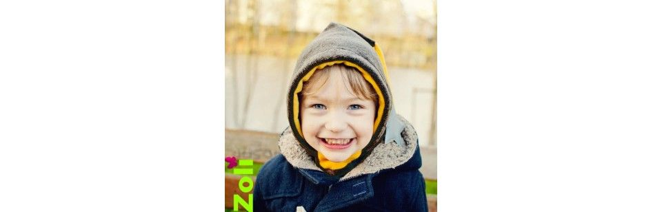 Les capuchons Zoli en polaire, pour les bébés ou les enfants.