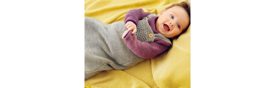 Les gigoteuse en laine tricotée Disana