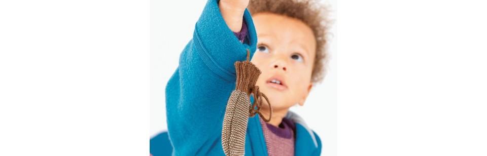 Disana - Mouffles en laine tricotée