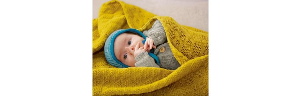 Disana - Couverture en laine tricotée